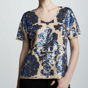 Tracy Reese Neiman Marcus Target Blue Sequin, S